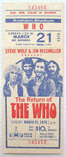 The Who Concert Ticket Anaheim 1976 Rare