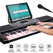 Tastiera Musicale Pianola Elettronica 61 Tasti Luminosi Pianoforte Multifunzione