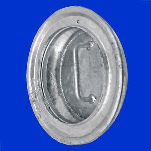 Deckel Abdeckung f Gülleschlauch Flansch Stutzen von Güllefass System Perrot