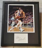 DAVE DEBUSSCHERE AUTHENTIC Signed Autographed KNICKS FRAMED 11X14 PHOTO JSA PSA