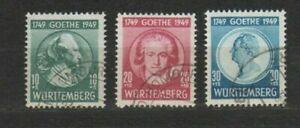 Württemberg 44 - 46 gestempelt