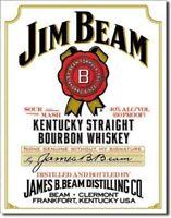 Retro Metal Advertising Sign Jim Beam Vintage Bar Pub Tavern Man Cave decor