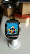 Charlie Brown & Friends  STAINLESS STEEL CASE Genuine Leather Band Wrist Watch