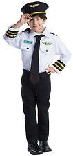COMPAGNIA aerea pilota Set Gioco Di Ruolo Costume per bambini-età 3-6 da Dress Up America
