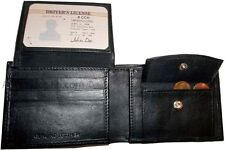 New Men's Leather Wallet 6 Card Holder ID, Change purse 2 Billfold Pockets BNWT
