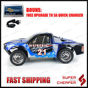 Hsp 1/10 Remote Control Rc Car Brushless Short Course Rally Truck Pro+ Lipo Batt
