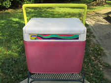New listing Vintage 1993 Coleman 5218 Portable Ice Chest Picnic Cooler Pearlized Pink Color