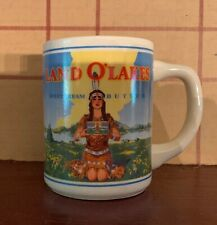 Vintage Land O Lakes Sweet Cream Butter Advertising Coffee Cup Mug Dairy
