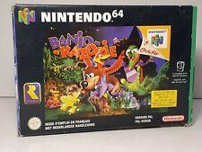 Boite Originale pour Banjo-Kazooie sur Nintendo 64 - N64 1998 RARE PAL FR