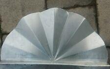 Wasserfangblech Prallblech Zink oder Kupfer Rinnenfächer Spritzschutz Dachrinne