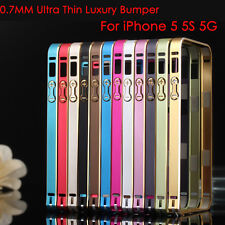 2pcs of Frame Case For iPhone 5 5S Ultra-thin Aluminum Metal Bumper Blade Luxury