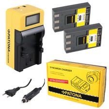 2x Batteria Patona + caricabatteria Synchron LCD USB per Canon Digital Ixus V,V2