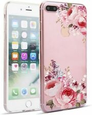 Unique Flowers Phone Case Compatible with iPhone 7 & 8 Plus. Clear TPU Material