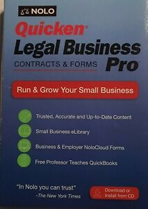 New in Box Quicken Legal Business Pro New Version includes 6 free eBooks
