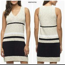 JAMES PERSE Cotton Linen Stripe Knit Sweater Tank Dress Size 1 (Small)