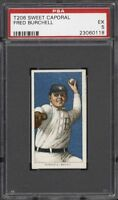 Rare 1909-11 T206 Fred Burchell Sweet Caporal 350 Buffalo PSA 5 EX