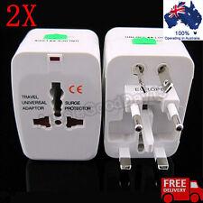 2X EU AU UK US JAPAN WORLD Universal AC Power Plug Convertor Travel Adaptor