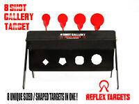 8 SHOT Gallery Target - HFT FT Airgun Air rifle Pistol - REFLEX TARGETS