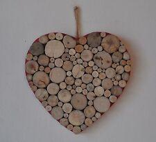 "Driftwood Heart Bathroom Shabby Chic Hand Crafted Charm Home Decor 8x8"""
