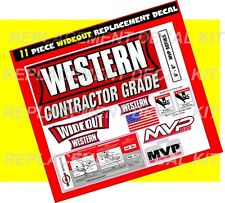 Western Snow Plow Wideout MVP Ultramount Decal Replacement 11 Piece Kit NEW 8.6