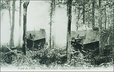 World War 1 Military: Oise Front, French Tanks Crossing the Woods. Pre-1915.