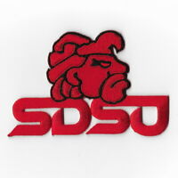 NCAA San Diego State Aztecs Iron on Patches Embroidered Badge Patch Applique Red