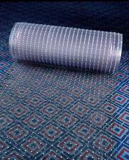 "Clear Plastic Runner Rug Carpet Protector Mat Ribbed Multi-Grip 26""x 96"" 2 Rolls"