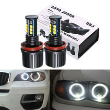 120W H8 White 6000K LED Angel Eyes Halo Ring Headlight Bulbs for BMW 1 3 5 6 7 X