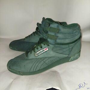 Vintage 90s Reebok Freestyle Hi Women's 10 Green EUC