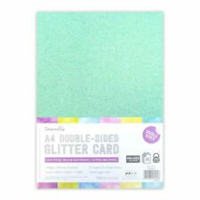 Dovecraft A4 Double Sided Glitter Bumper Pack - Rainbow Pastels - 350gsm - 12pk