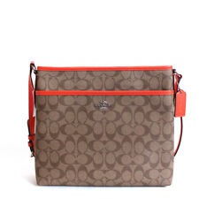 New Coach F58297 Signature File Bag Crossbody Handbag Authentic NWT