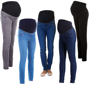 Ex Chainstore Over Bump Skinny Maternity Jeggings, NEW Pregnancy Stretchy Jeans