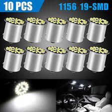 10x Led 1156 1141 Ba15s 19 Smd Rv Camper Trailer Interior Light Bulbs Pure White