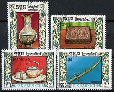 Camboya 1987 Sg # 819-822 Metal trabajo Cto Usado Set #d 6338