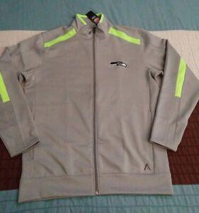 NFL Apparel Antigua Mens Seattle Seahawks Full Zip Jacket