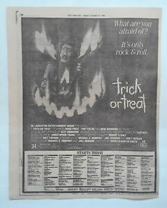Trick Or Treat Original 1986 Full Page Movie Ad & Smaller Ads Ozzy Osbourne!!!!!