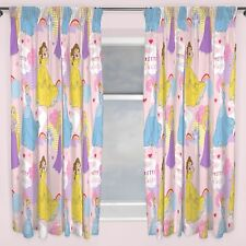 "DISNEY PRINCESS ENCHANTING CURTAINS 66"" x 54"" RAPUNZEL CINDERELLA GIRLS NEW"