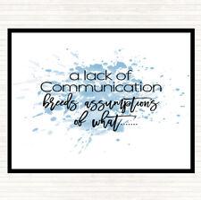 Bleu Blanc manque de communication Inspirant Citation Dîner Table Napperon