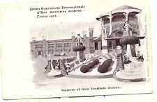 TORINO 1902 - ESPOSIZIONE INT.LE D'ARTE MODERNA Ingresso Gran Vestibolo PEDRINI