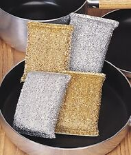 Cleanpot Metallic Pot Cleaner Teflon Scrubber Luster Sponges - Set of 4