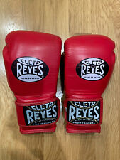 Cleto Reyes Hook and Loop Leather Training Boxing Gloves 12oz Red