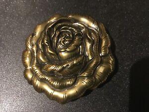Women's bespoke ,solid cast flowering rose belt buckle.Antique brass plaited.