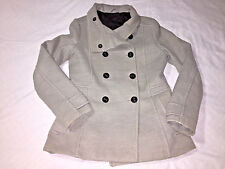 H&M Outerwear Button Up Winter Jacket Coat Size10 Gray