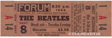1  BEATLES VINTAGE UNUSED FULL CONCERT TICKET 1964 Montreal Canada brn laminated