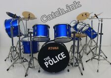 STEWART COPELAND THE POLICE DRUM SET DRUM KIT TAMA MINIATURE FOR DISPLAY ONLY