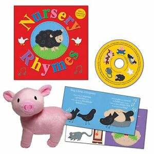 Nursery Rhymes Book,Sing Along CD Plush Piggie (Out of Box) FREE shipping $35