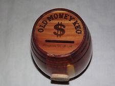 VINTAGE 1960S STORYTOWN USA LAKE GEORGE NY WOOD OLD MONEY BARREL KEG BANK