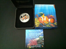 2010 50c Clownfish Sea Life 1/2oz Silver Proof Coin  Clown Fish