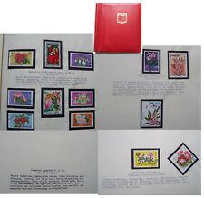 Briefmarken Album große Spezialsammlung Sammlung Pflanzen Blumen Stauden