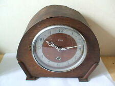 Oak Edwardian Antique Mantel & Carriage Clocks (1900-Now)